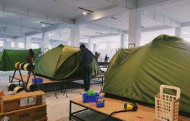 Checking Fira 4 tent in Gipfel factory
