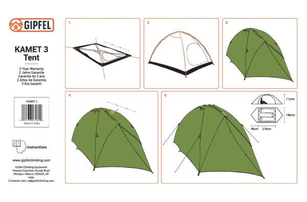 Kamet 3 Tent instruction manual